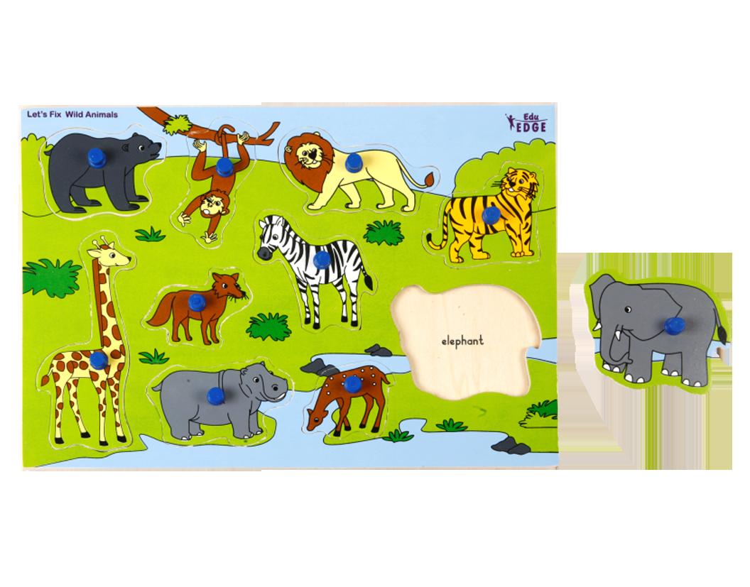 wild animals learning material kidzeduzone