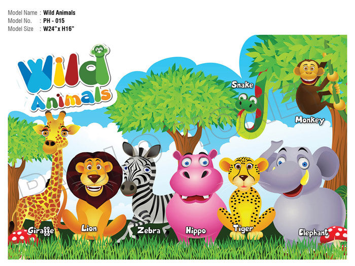 wild animals cutouts kidzeduzone